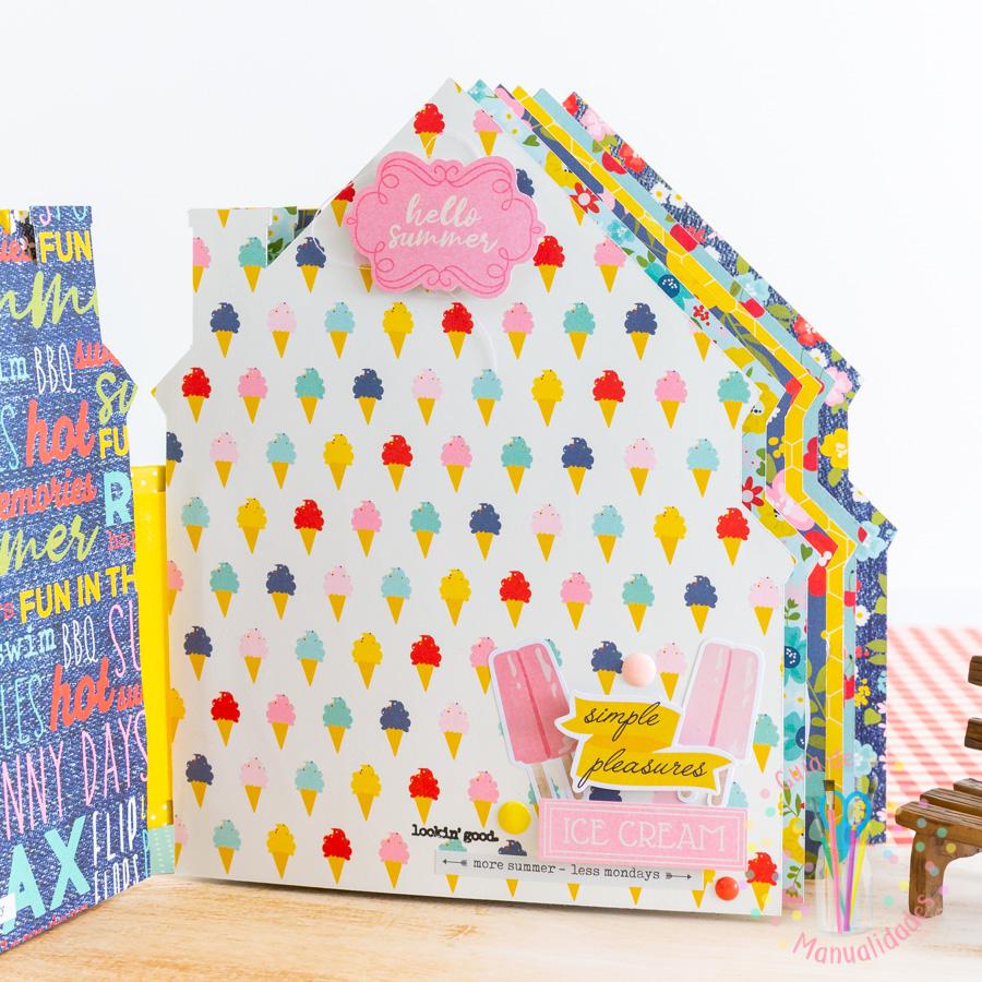 Mini Álbum casa de verano 9