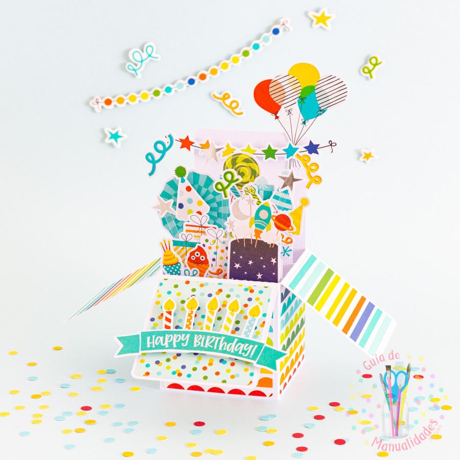Tarjeta de cumpleaños pop up box 1