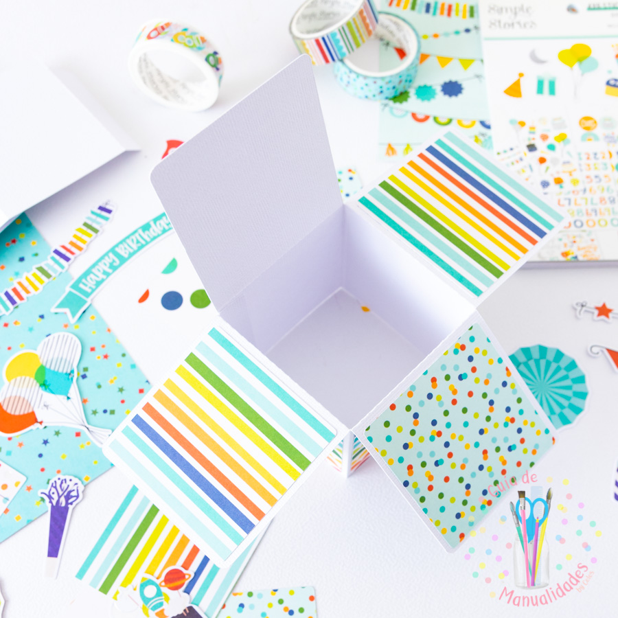 Tarjeta de cumpleaños pop up box 3