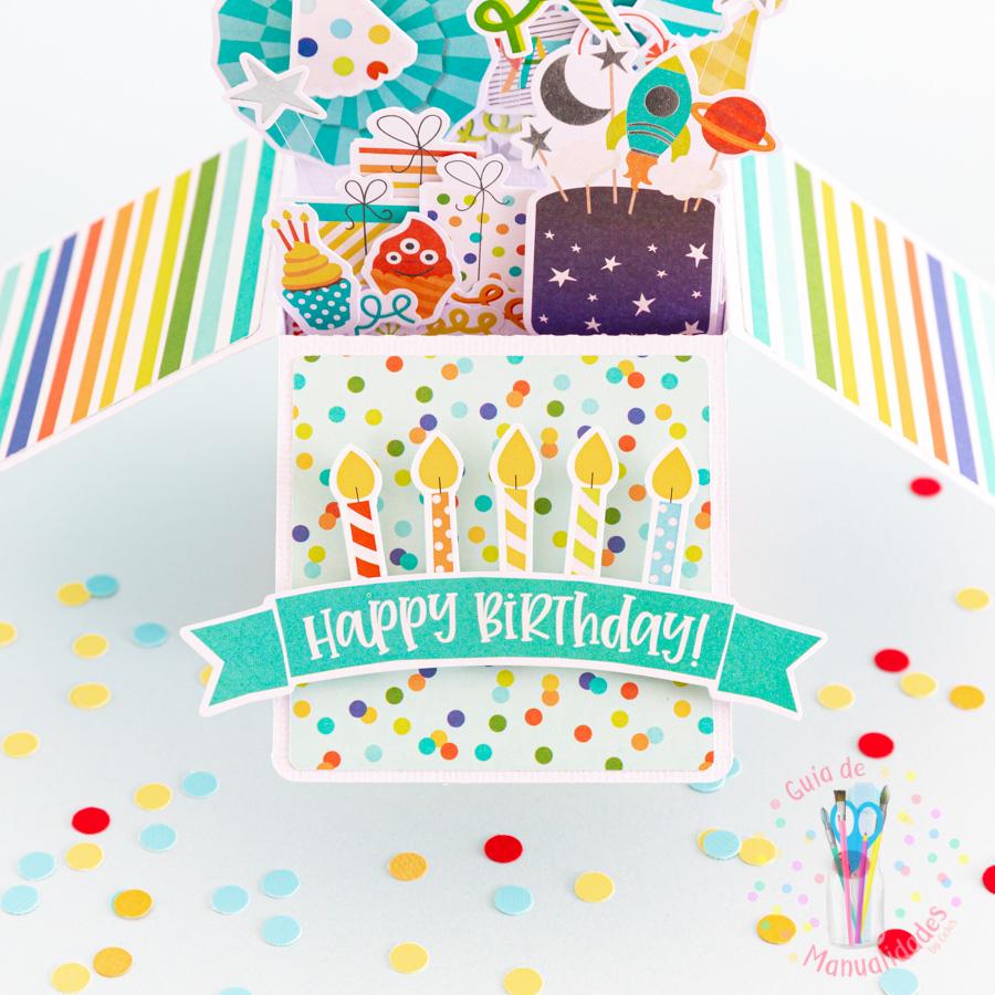 Tarjeta de cumpleaños pop up box 7