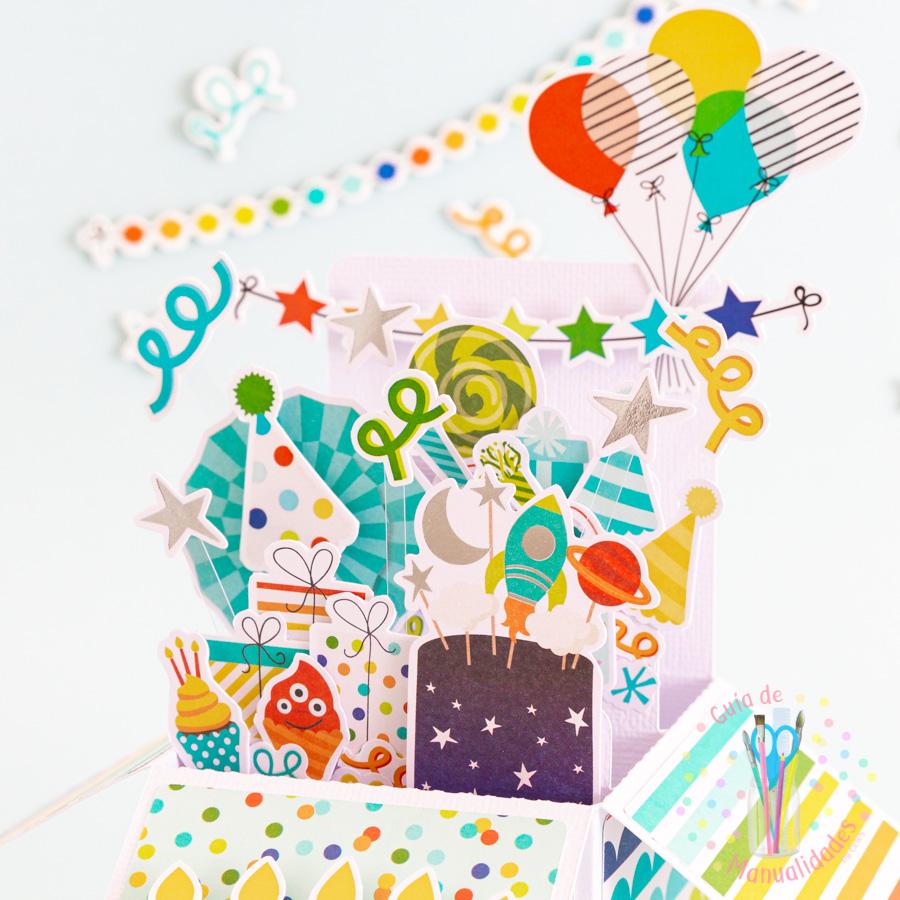 Tarjeta de cumpleaños pop up box 8