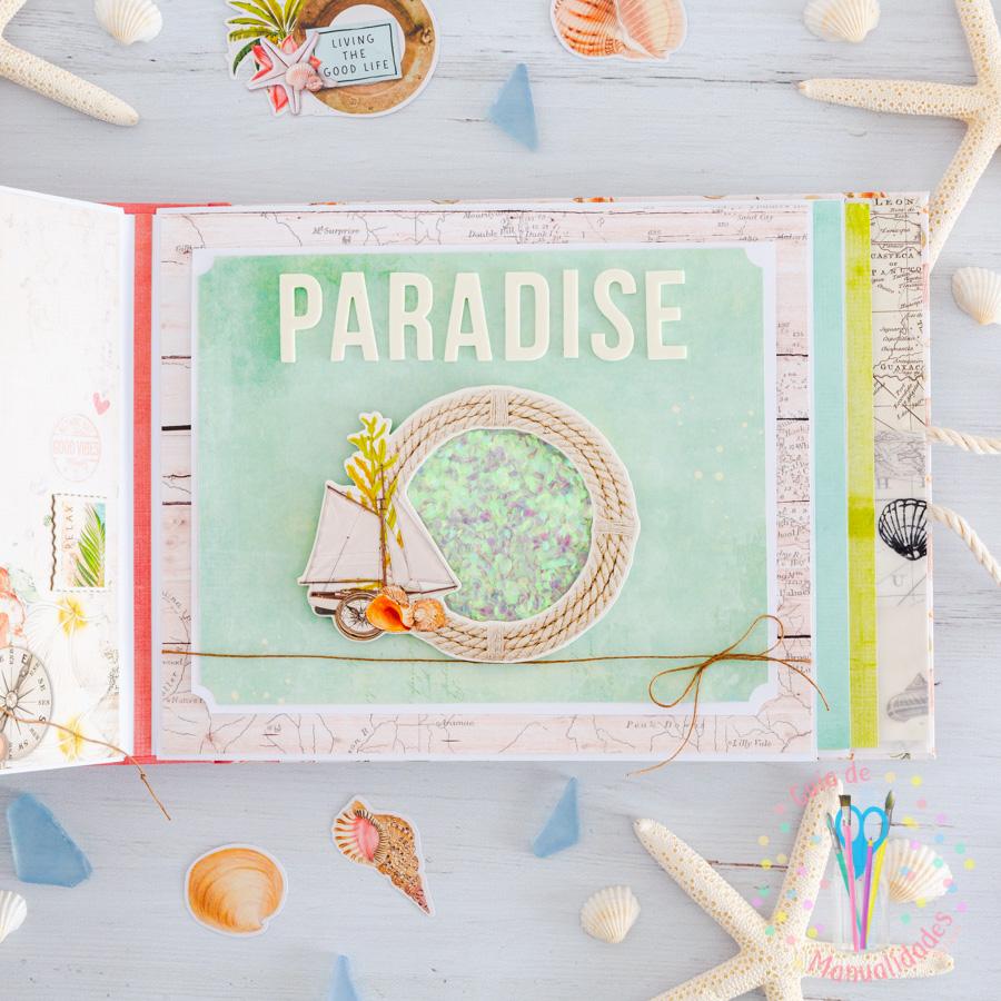 Mini álbum de playa Loving the beach life 11