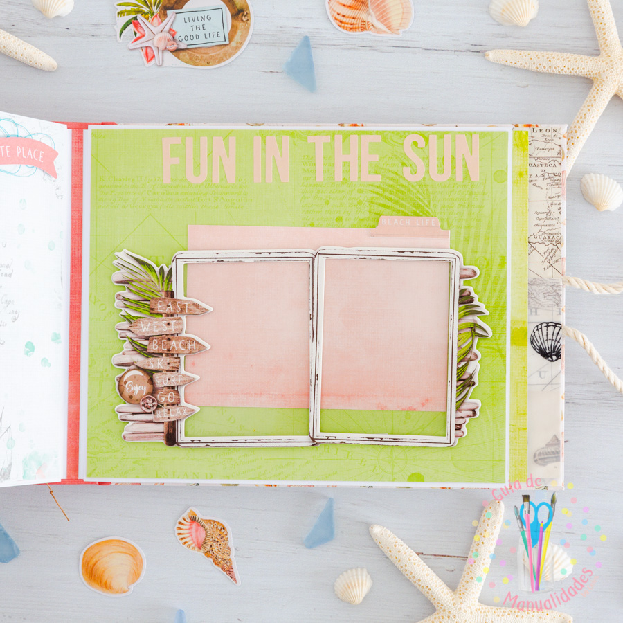 Mini álbum de playa Loving the beach life 12