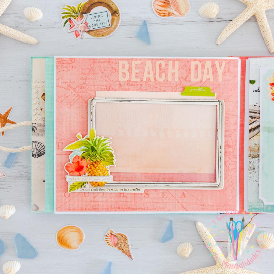Mini álbum de playa Loving the beach life 14