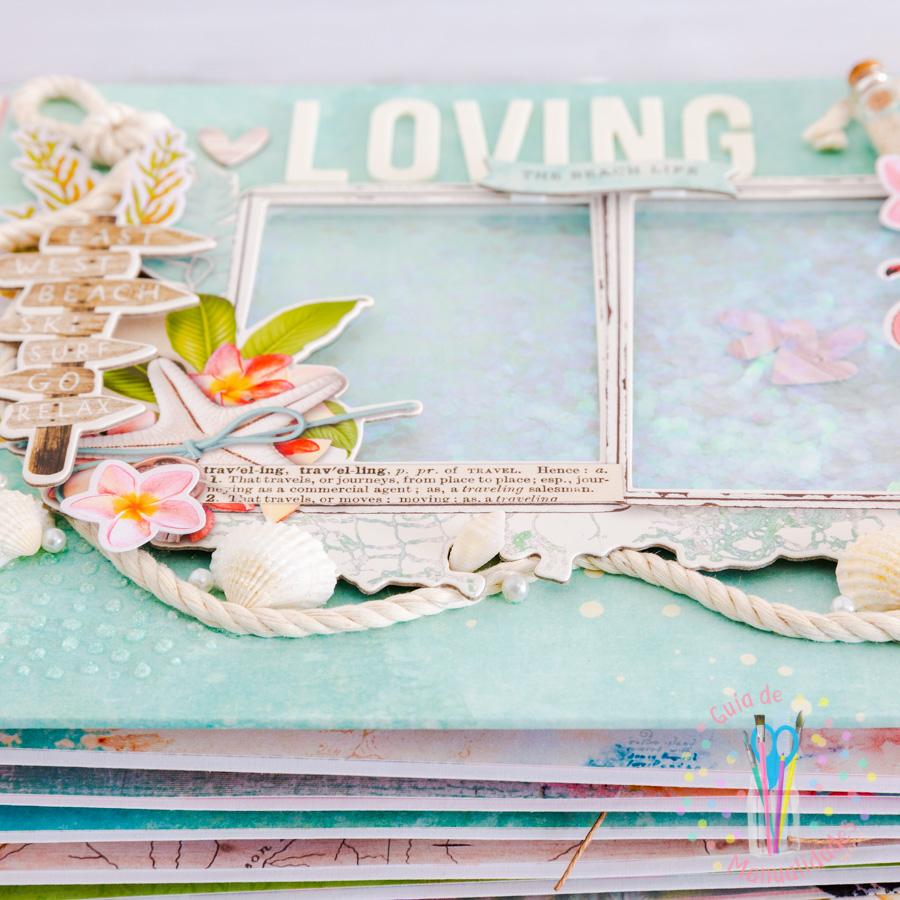 Mini álbum de playa Loving the beach life 21