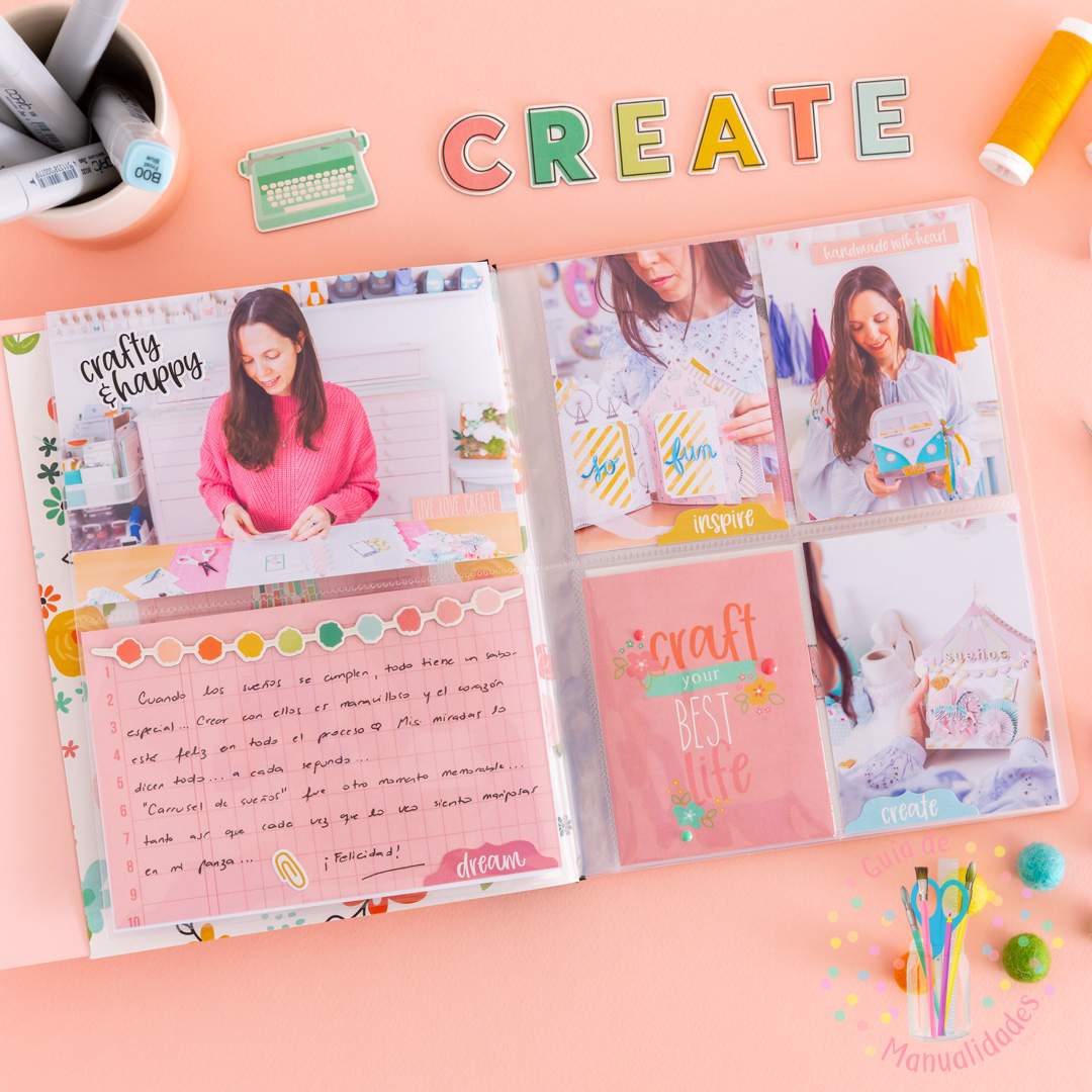 Flipbook Mini Album Crafty Girl Simple Stories 7