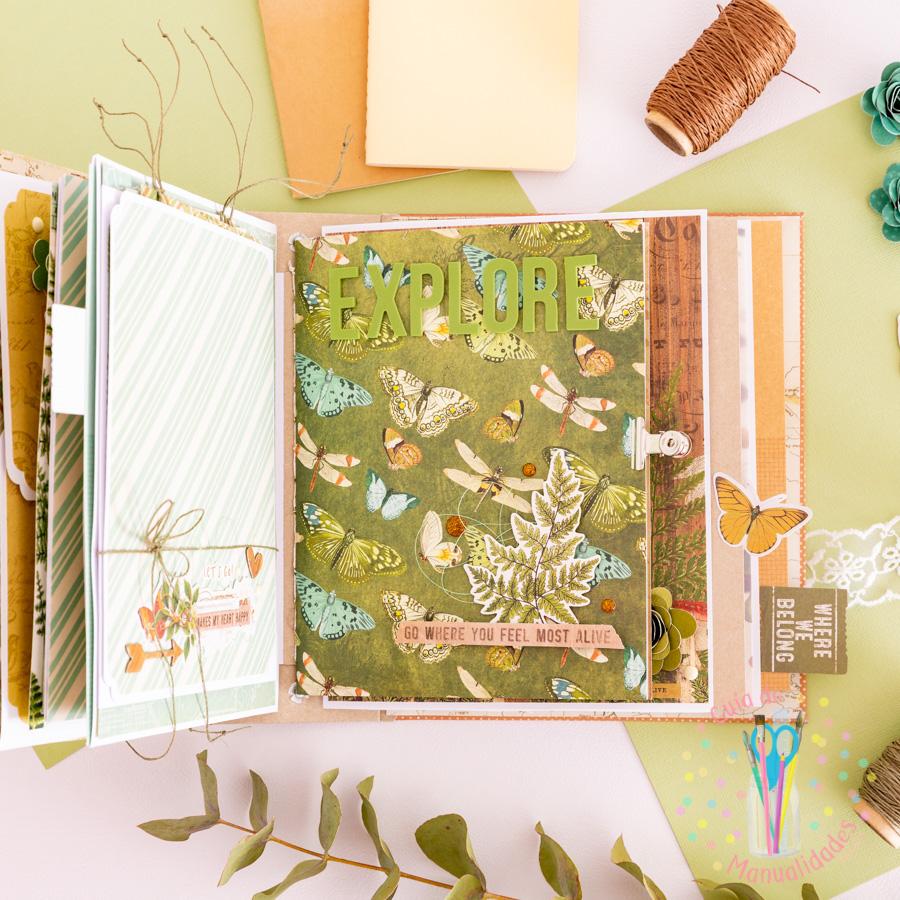 Mini book de viaje combinado con journaling 8