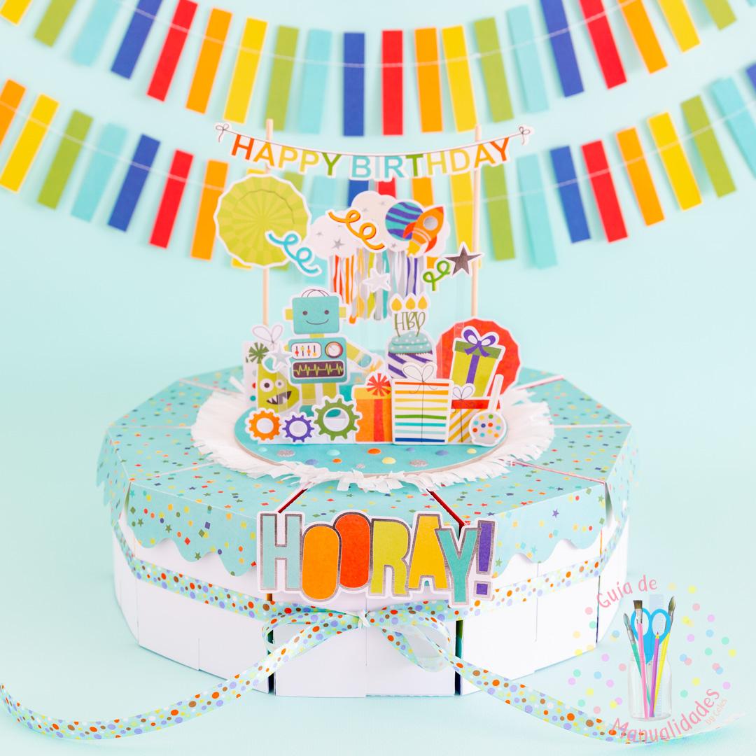 Torta Pastel de Cajitas de sorpresas dulces y topper DIY 1
