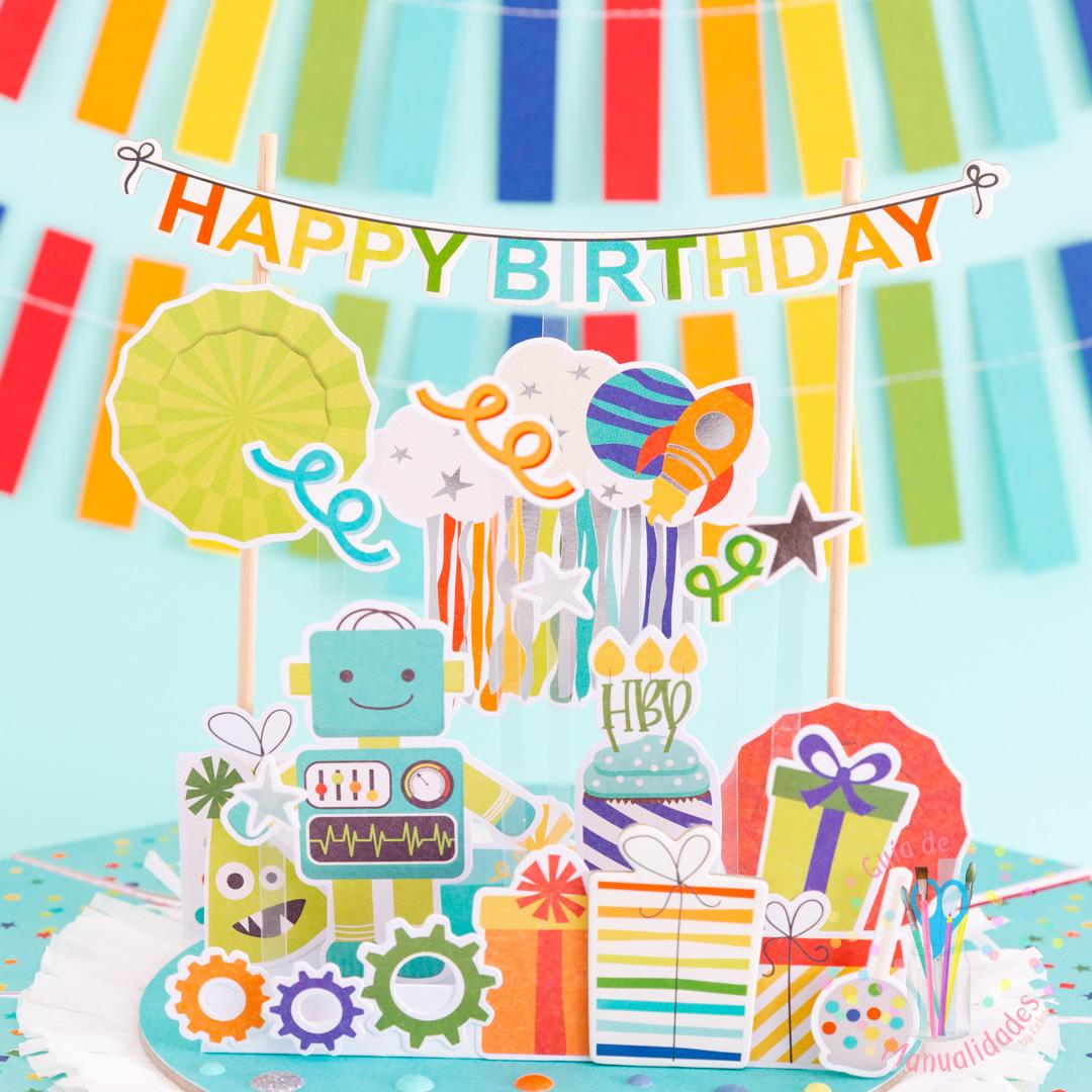 Torta Pastel de Cajitas de sorpresas dulces y topper DIY 10