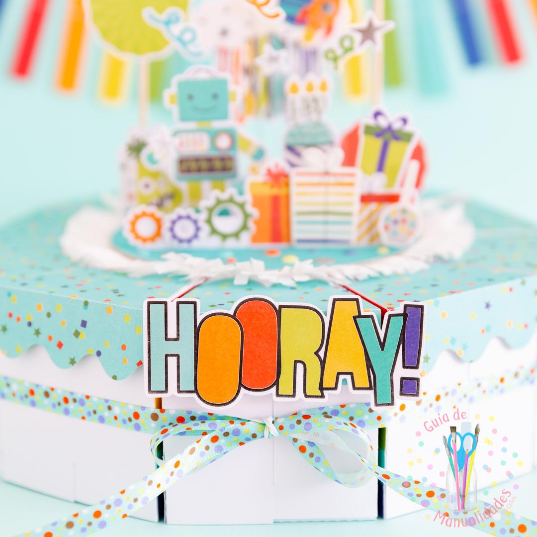 Torta Pastel de Cajitas de sorpresas dulces y topper DIY 11