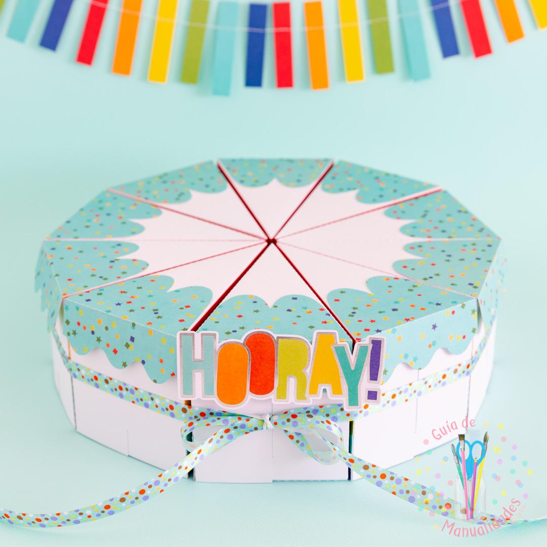 Torta Pastel de Cajitas de sorpresas dulces y topper DIY 12