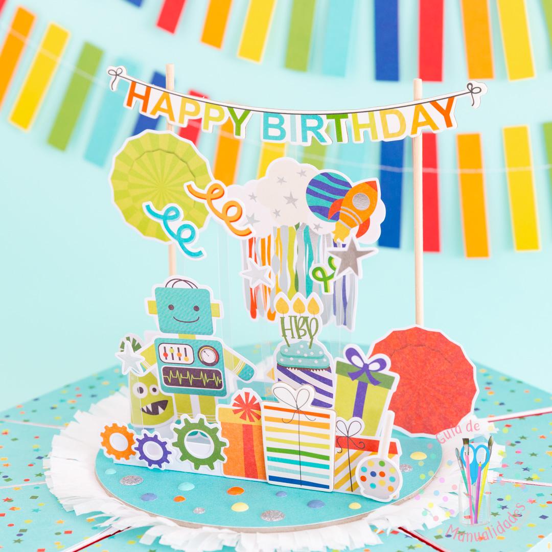 Torta Pastel de Cajitas de sorpresas dulces y topper DIY 9