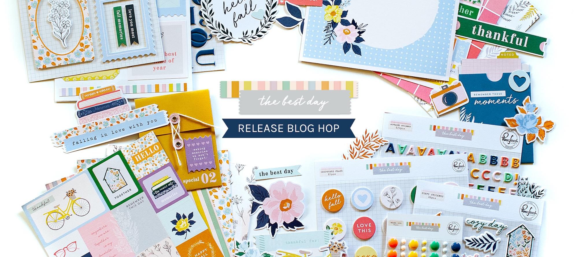 PinkFresh Studio The Best Day Collection Release Blog Hop 1