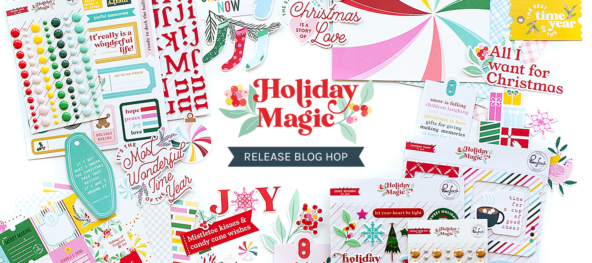 PinkFresh Studio Holiday Magic Collection Release Blog Hop 1